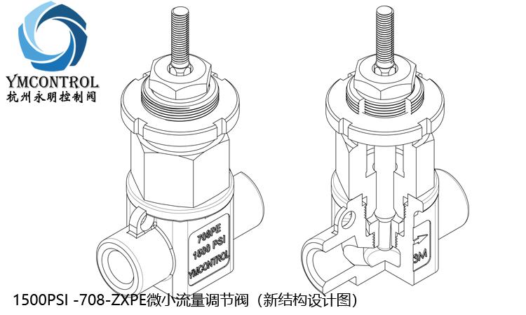 1500PSI-708PE-ZXPE-MIN-FLOW微小流量調節閥設計圖