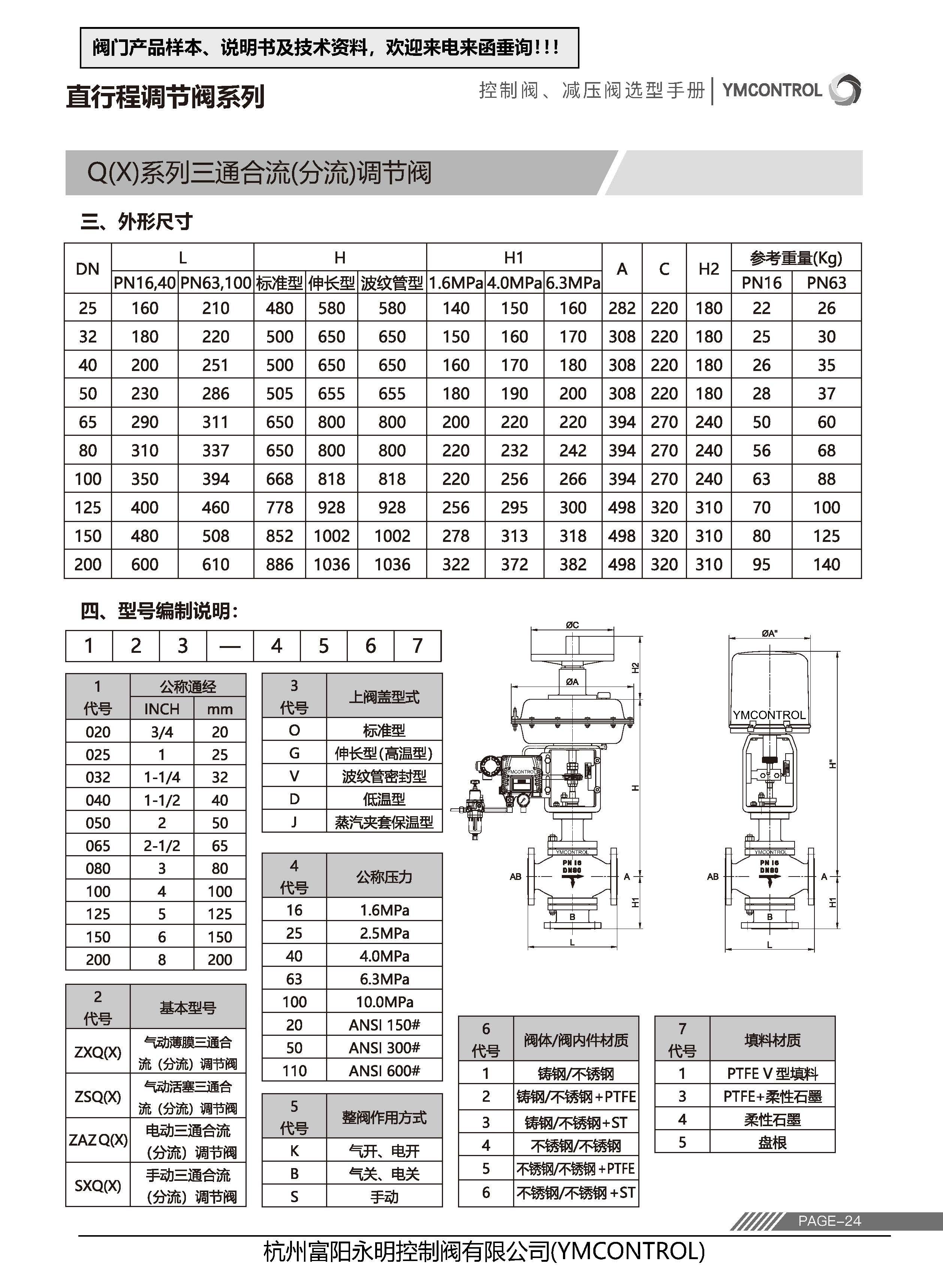 ZXX-ZXQ气气动薄膜三通调节阀样本说明书