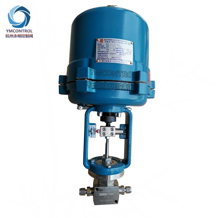 708ME卡套螺紋式防爆型電子式電動微小流量調節閥(針型閥)