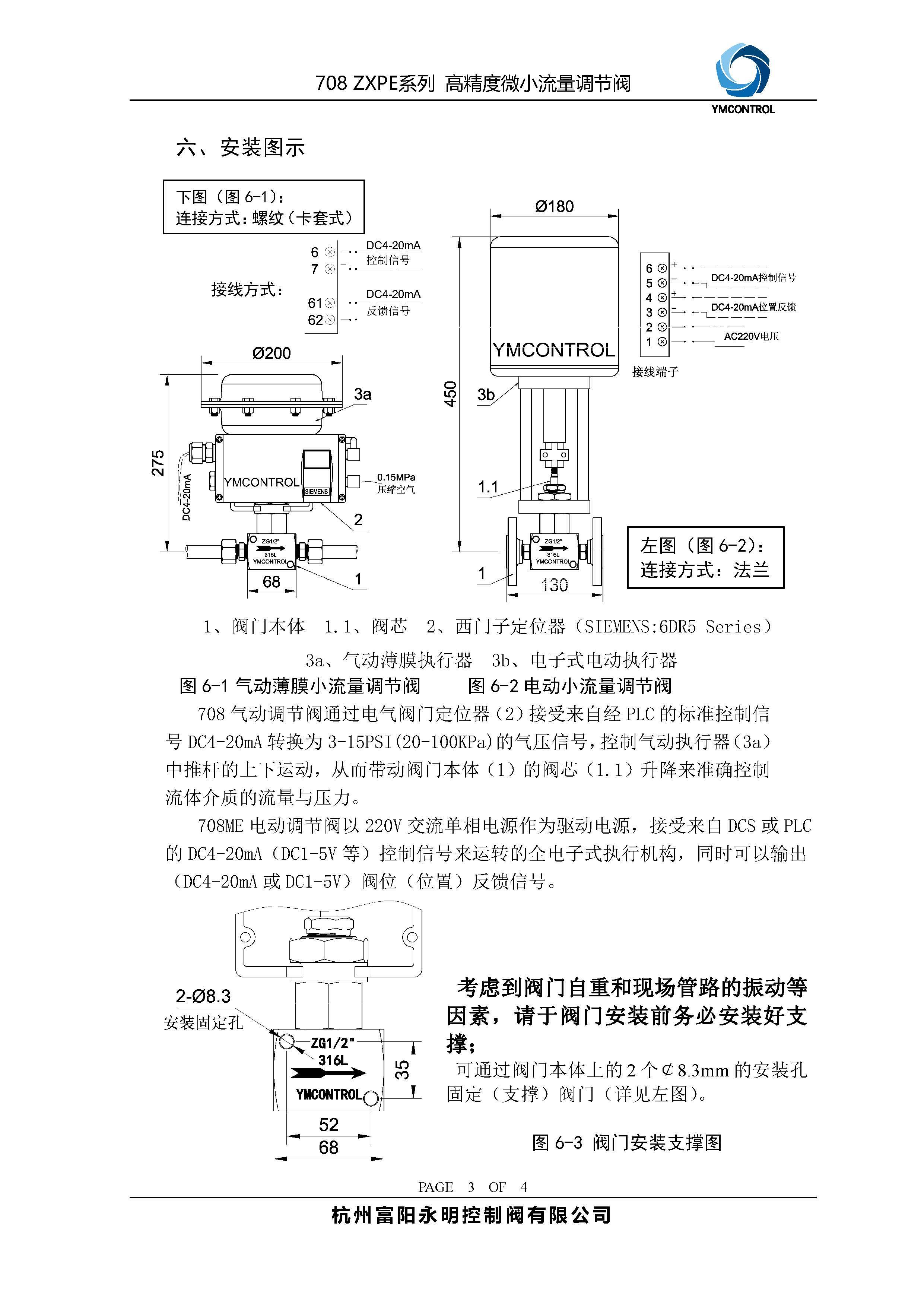 708-ZXPE微小流量调节阀产品使用说明书