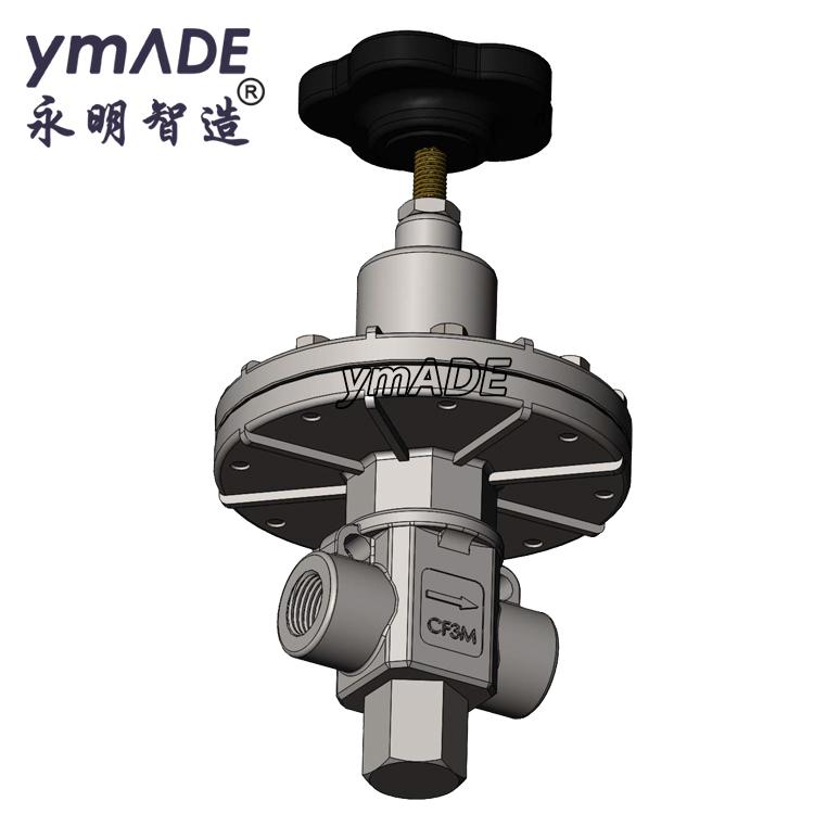 ZY2401气体精密减压阀调压器螺纹卡套法兰焊接连接-永明智造ymADE设计研发生产