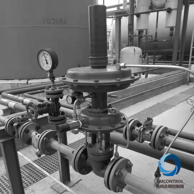 ZZDG-ZZYVP儲罐氮封自力式供氮閥使用現場